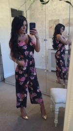 Pink rose jumpsuit