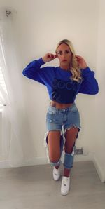 Coco jumper blue , not cropped