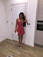 Polka tie front mini dress