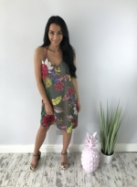 floral cami dress khaki