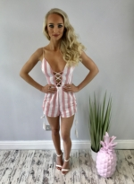 Candy shop playsuit pink