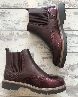 Autumn rush boots Burgundy