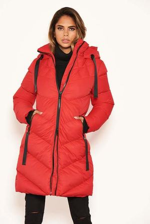 Winter dreams coat red