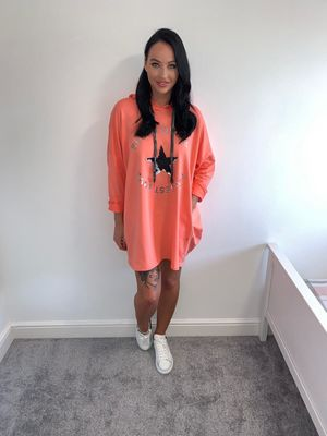 Summer crush jumper/dress coral