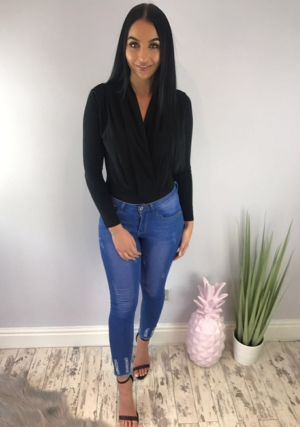 Simple Black Bodysuit