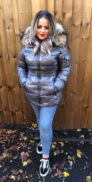 Russian lux coat grey
