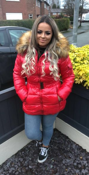 Russian lux coat red