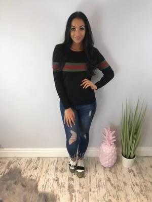 Guess thin knit jumper black