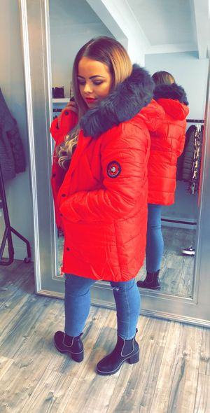 Autum rush coat red