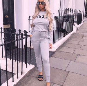Vogue tracksuit grey