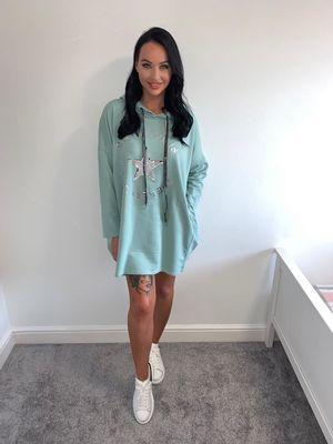 Summer crush jumper/dress mint