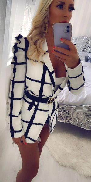 Style icon jacket white/black