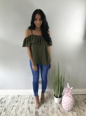 Sophia top khaki