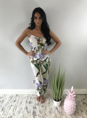 Tropical beach jumpsuit