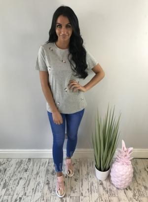 isabella shirt grey