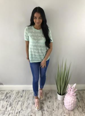 Thin knit summer tshirt mint