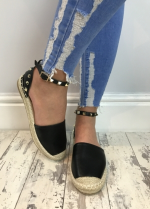 VENICE ESPADRILLES IN BLACK