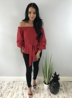 lucy top red