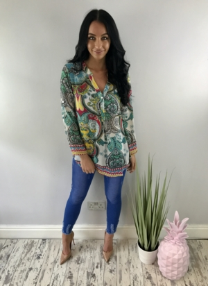 Indian dream blouse  turquoise