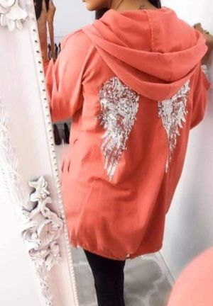 angel wing jacket coral